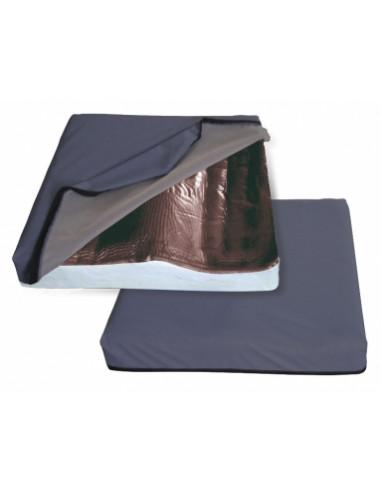 Cuscino antidecubito con base preformata e gel automodellante