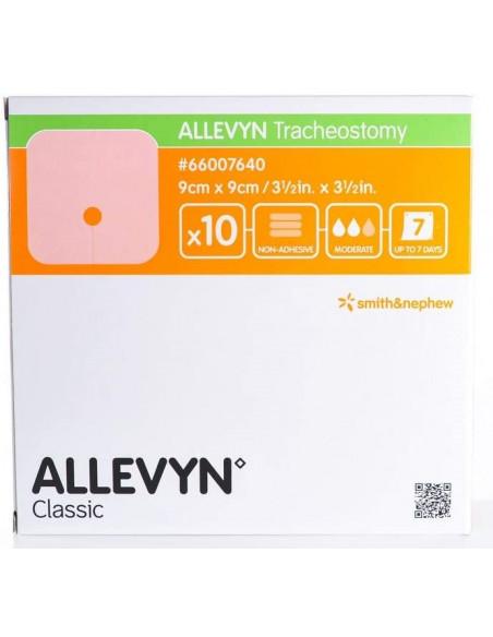 Allevyn Tracheostomy Medicazione Idrocellulare Non Adesiva per Tracheostomia 9x9 10pz