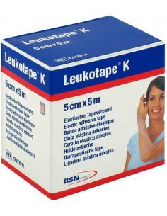 Leukotape K Cerotto Elastico Adesivo per Taping 5 m x 5 cm