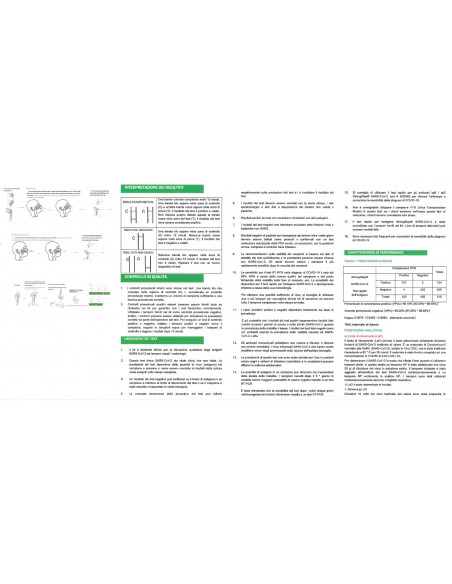 Test rapido antigenico TAMPONE NASOFARINGEO E SALIVARE Covid-19