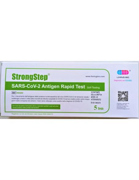 Test rapido antigenico Covid-19 Tampone nasofaringeo e salivare Prezzo a pezzo cf 5 kit